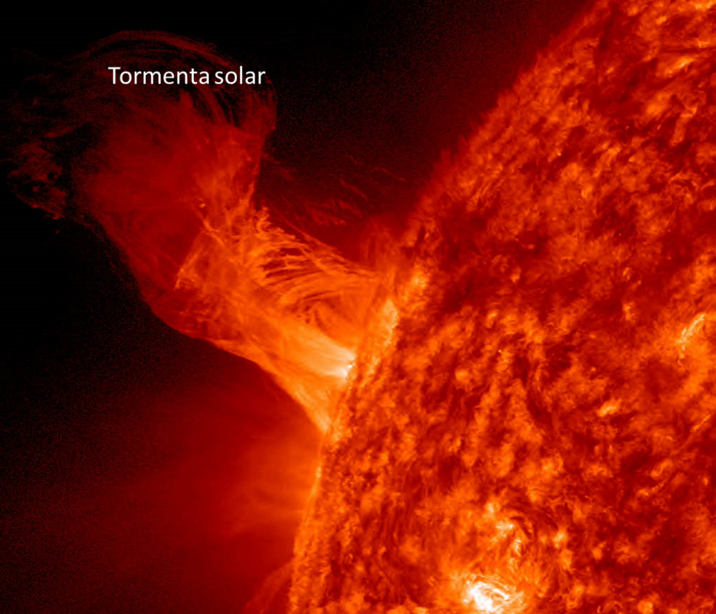 enigmas del universo: manchas solares: tormenta solar